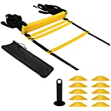 Arespark Agility Ladder, 12 Rung Durable Training Ladders Soccer, Speed, Football Carry Bag