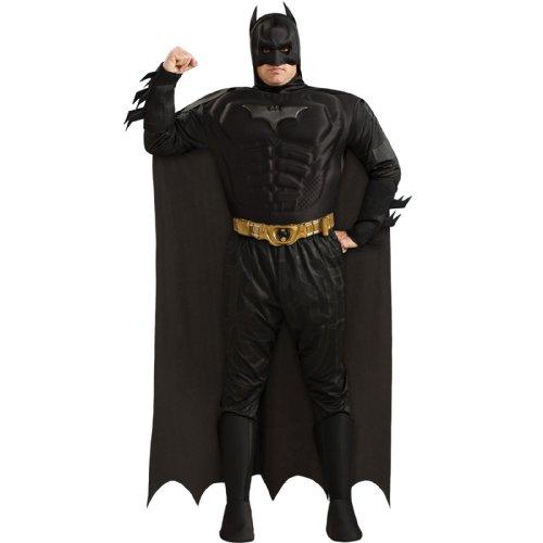 [Deluxe Muscle Chest Batman Plus Size Costume] (Best Batman Costume For Sale)