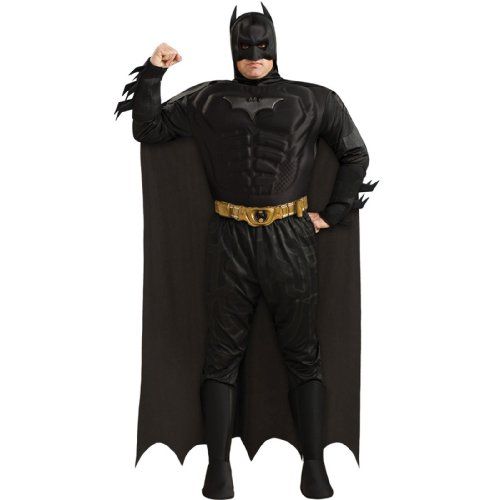 [Deluxe Muscle Chest Batman Plus Size Costume] (Plus Size Batman Costumes)
