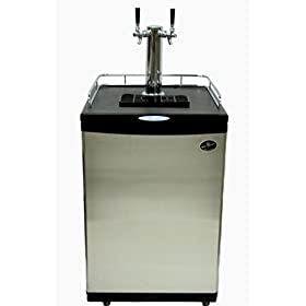 Beer Meister dual tower with stainless steel door kegerator- homebrew value line (no kegs included)