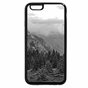 iPhone 6S Case, iPhone 6 Case (Black & White) - Beautiful Mountain Forest