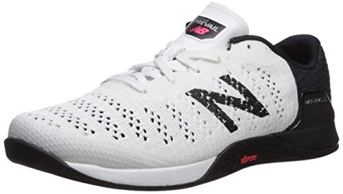 New Balance Men's Prevail V1 Minimus Cross Trainer Shoe, White/Black/Energy Red, 10.5 W US