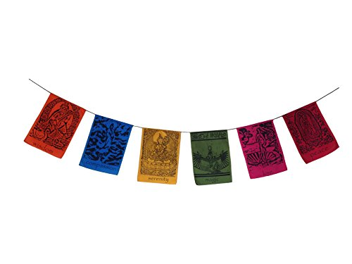 Wisdom Arts #6205 – Goddesses Inspirational Hanging Banner Tibetan Prayer Flag Style Review