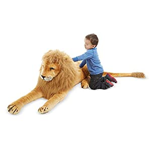 Melissa & Doug Giant Lion – Lifelike Stuffed Animal (over 6 feet long)