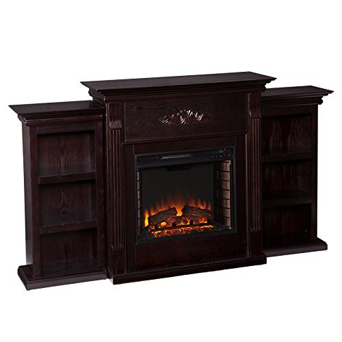 037732285450 - Tennyson Electric Fireplace w/ Bookcases - Classic Espresso carousel main 2