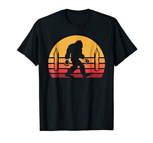 - Retro Bigfoot Boxer Shirt, Sasquatch Boxing Tee Gift