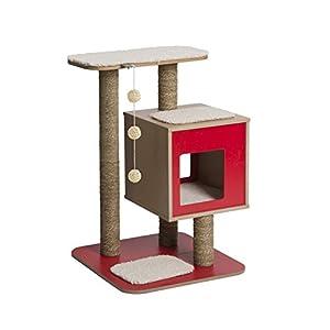 41LasydaYNL. SS300  - Vesper V-Base Red, Cat Furniture Tree