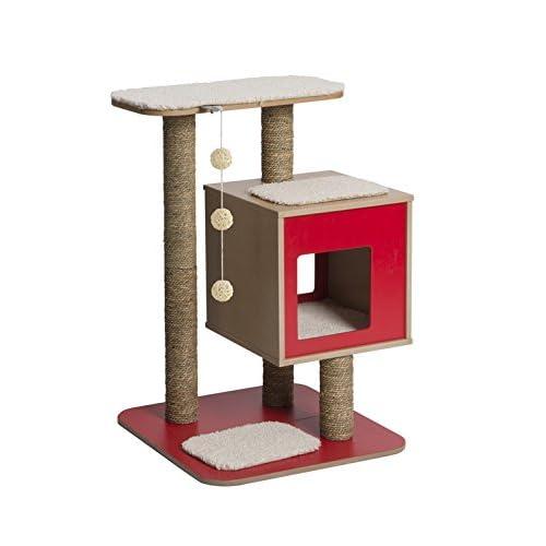 41LasydaYNL. SS500  - Vesper V-Base Red, Cat Furniture Tree