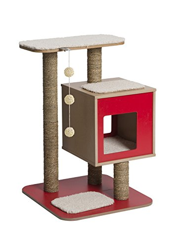 Vesper V-Base Red, Cat Furniture Tree