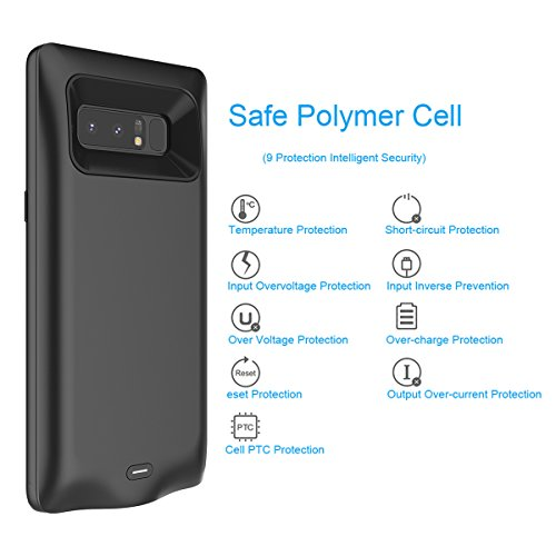 buy online e1bd4 faf82 Galaxy Note 8 Battery Case, FugouSell 5500mAh Portable Rechargeable  Extended Backup Battery Charging Juice Pack External Power Bank Protective  Case ...