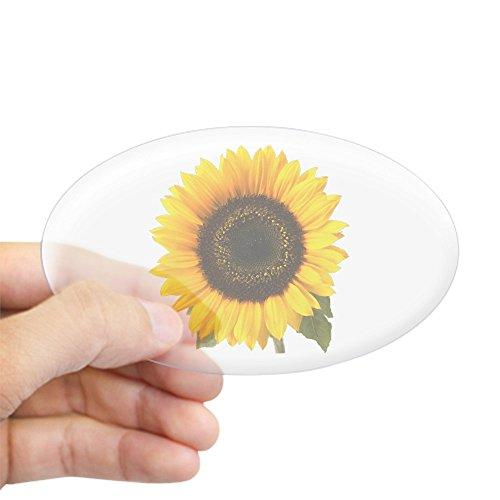 CafePress Sunflower Sticker (Oval) Oval Bumper Sticker, Euro Oval Car Decal