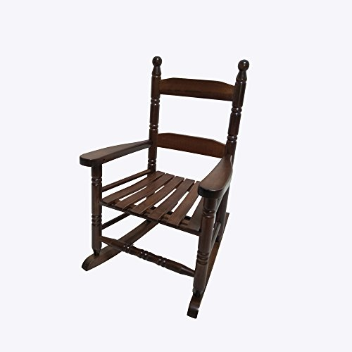 Rocking Rocker - K10NT Natural Wood Child's Rocking Chair / porch Rocker - Indoor or Outdoor - Suitable For 1 to 4 Years Old