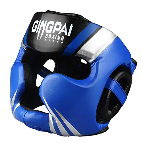 GINGPAI Boxing Headgear, MMA Muay Thai Grappling Sparring Kickboxing Karate Taekwondo Martial Arts Headguard for Men…