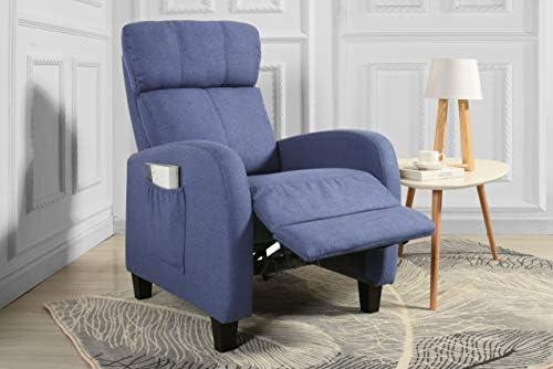 Living Room Slim Manual Recliner Chair