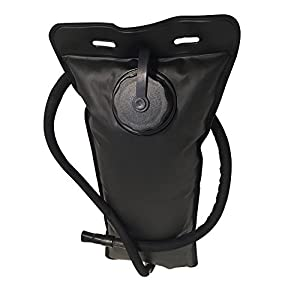 Tactical Hydration Backpack (Black) With 3 Liter Water Bladder - Features Multiple Storage Compartments - Daypack Used For Hiking, Running, Camping, Biking, Cycling, & Walking - By Salty Lance