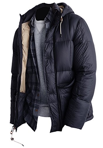 Abercrombie Mens Down 600 Fill Power Puffer Coat Jacket  L  Navy