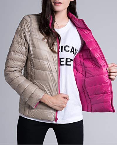 Rosa Outwear Reversibile Femminile Giù E Zixing Leggero Sottile Ricoprono Il Rivestimento Cachi WrWBz1nA