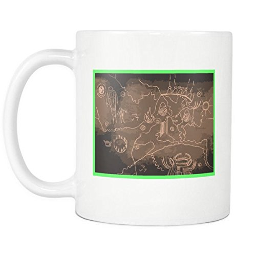 Twin Peaks Mug - Black Lodge Map From The Owl Cave (Cup Lodge)