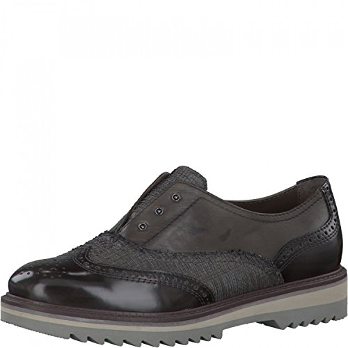 Jana Be Natural by Damen Slipper 8-24703-206 Graphite, Gr. 37-41, Leder Wechselfußbett, Weite H Grau