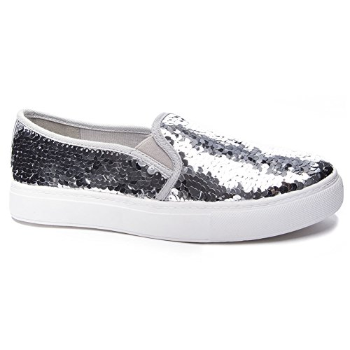 Dirty Laundry by Chinese Laundry Women's Josephine Sneaker, Silver Sequins, 9 M US