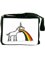 Rikki Knight Rainbow Unicorn Design Messenger Bag - Shoulder Bag - School Bag for School or Work