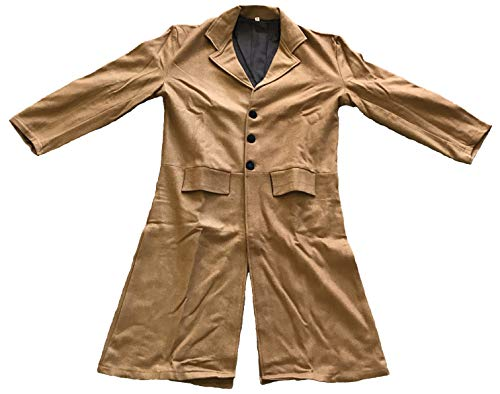 - Military Uniform Supply Civil War Civilian Frock Coat Wool - V-Style - Butternut - 48