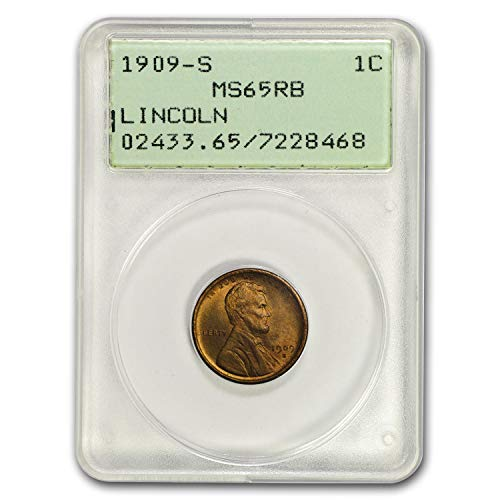 1909 S Lincoln Cent MS-65 PCGS (Red/Brown) Copper MS-65 PCGS