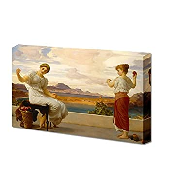 Winding The Skein by Frederic Leighton Giclee Canvas Prints Wrapped Gallery Wall Art | Stretched and Framed Ready to Hang - 16