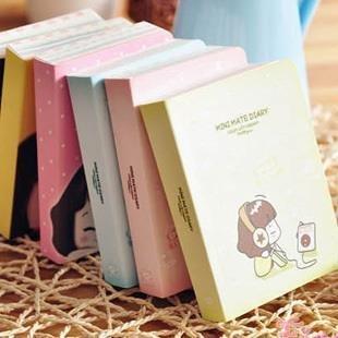 2015 New Planner Composition Book Paper Agenda Sketchbook C178 South Korean Stationery Cute Niuzai Hands Notebook Biscuits Girl (Cute 2015 Agenda)