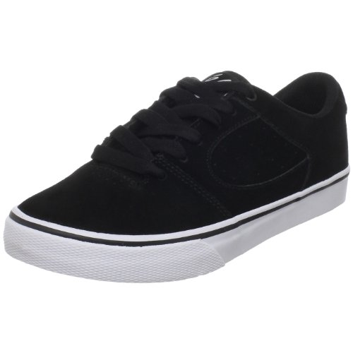 eS Kids' Square Two Skate Shoe,Black/White,4 M US Big Kid by eS