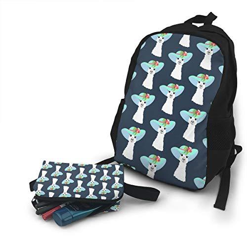 (Jiqnajn6 Llama in Hat Seamless Pattern Laptop Backpack,Travel Computer Bag for Women & Men,Anti Theft Resistant College School Bookbag,Business)