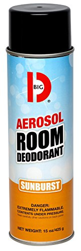 Big D 351 Aerosol Room Deodorant, Sunburst Fragrance, 15 oz (Pack of 12) - Industrial strength handheld air freshener ideal for restrooms, offices, schools, restaurants, hotels, (Aerosol Room Deodorant)