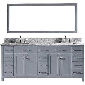Virtu MD 2178 WMSQ GR Caroline Parkway Double Bathroom Vanity Cabinet Set,