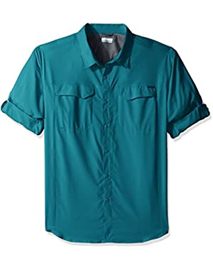 Men's Big-Tall Silver Ridge Lite Long Sleeve Shirt, Teal, 2XT
