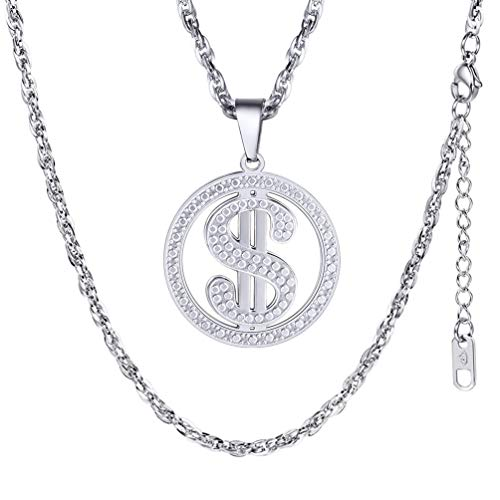 PROSTEEL Dollar Necklace,Necklaces Pendants,Stainless Steel,Fashion Jewelry,American Money,Mens Necklaces,Collares Hombre,Trending,PSP2945G ()