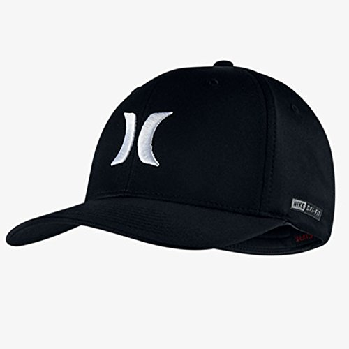 Hurley Dri-Fit One and Only Hat - Black White - S M · Hurley MHA0007270 Men s  Phantom Flyer Adjustable Hat cd578b22fa35