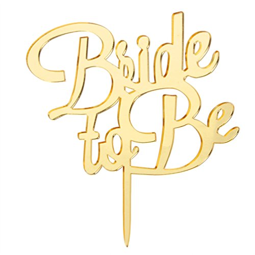 INNORU ™ Gold Bride To Be Cake Topper Wedding Party Supplies