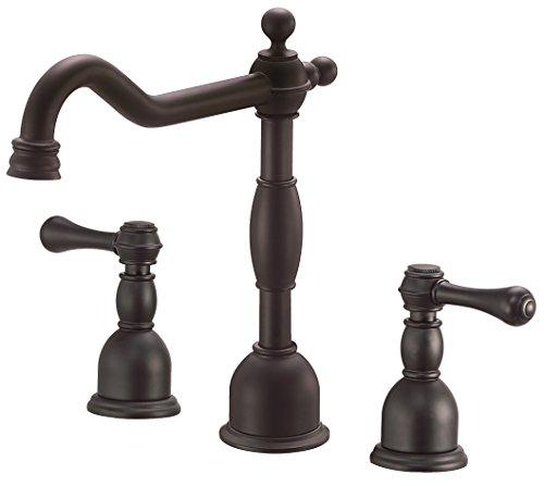 Danze D304157BS Opulence Two Handle Widespread Lavatory Faucet, Satin Black