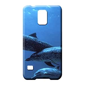 samsung galaxy s5 Heavy-duty PC colorful phone cover skin animals ocean dolphins