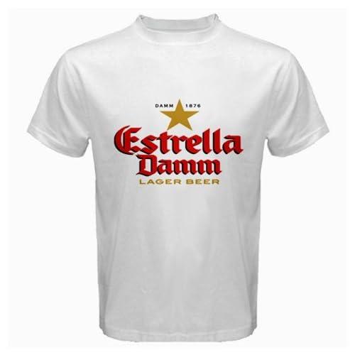 "Amazon.com: Estrella Damm Beer Logo New White T-shirt Size ""XL"