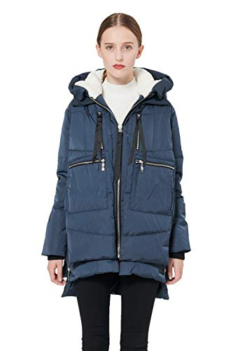 Orolay Women's Thickened Down Jacket (Most Wished &Gift Ideas) (3X, Navy)
