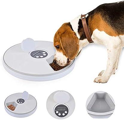 FOONEE Alimentador Automático para Mascotas, Alimentador de 6 ...