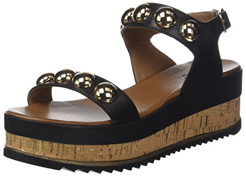 Inuovo Women's 8825 Ankle Strap Sandals Black (Black 16781933) pDkWq5c9e