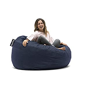 Big Joe 0005657 Fuf Foam Filled Bean Bag Chair, King, Cobalt Lenox