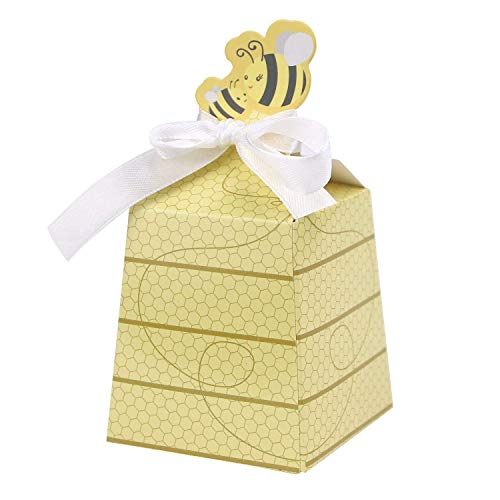 - Floratek 50 PCS Baby Shower Favors Cute Honey Bee Design Chocolate Packaging Box Candy Box Gift Box for Kids Birthday Baby Shower Guests Wedding Party Supplies