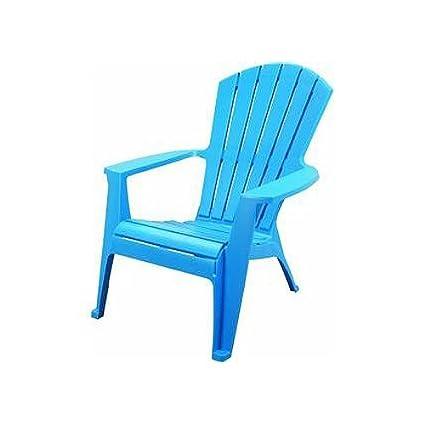 Amazon Com Adams 8370 21 3700 Adirondack Stacking Chair Pool Blue