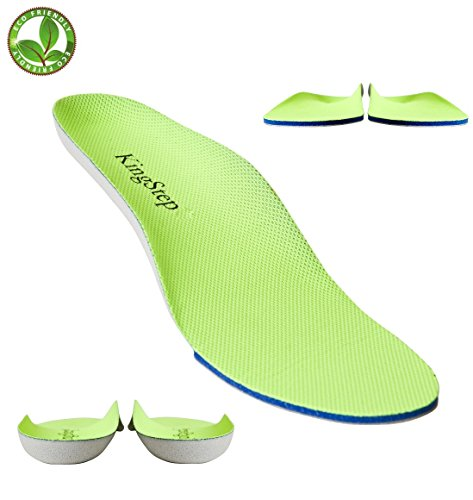 Sports Athletic Replacement Shoe Insoles/Insert for Flat Feet Running/Hiking,with Soft Comfort Cushion,Shock Absorbing,Relieve Feet Pain (Men 7.5 / Women 9) ()