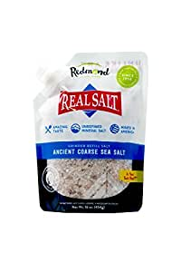 Redmond Real Salt- Nature's First Sea Salt- Coarse Salt- Grinder Refill Pouch (16 Ounces)