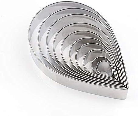 陶器 と セラミックス ツール オースティン ローズ 花びら セット 3D モールド ポリマー 一般粘土 カッター シルバー
