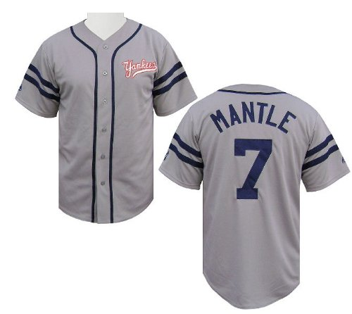 Mickey Mantle Cooperstown Heater Jersey by Majestic (L=44) - Majestic Heater